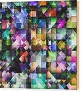 Colourful Fractal Jewels Wood Print