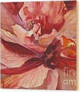 Colourful Hibiscus Wood Print