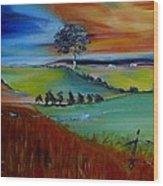Colourful Landscape Wood Print