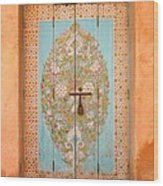 Colourful Moroccan Entrance Door Sale Rabat Morocco Wood Print