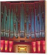 Colourful Organ Wood Print