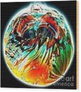 Colourful Planet Wood Print by Bernard MICHEL