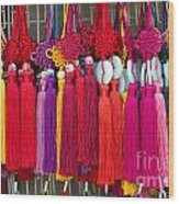 Colourful Souvenirs In China Wood Print
