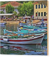 Colours Of Greece Wood Print