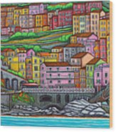 Colours Of Manarola Wood Print