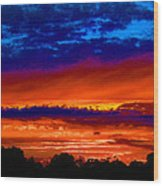 Colours Of Sunset Wood Print