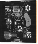 Colt Revolver Patent Art 2  -  1881 Wood Print