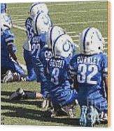 Colts Vs Bruins 7078 Wood Print