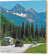 Columbia Mountains In Glacier Np-british Columbia Wood Print