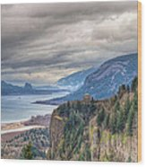 Columbia River Gorge Scenic View In Oregon Wood Print