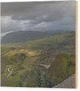 Columbia River Gorge View From Crown Point Wood Print