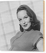 Columbia Starlet Dorothy Hart, Ca. 1947 Wood Print
