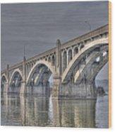 Columbia-wrightsville Bridge Wood Print