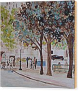 Columbus Circle In New York Wood Print