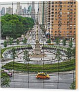 Columbus Circle Wood Print
