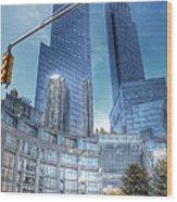 New York - Columbus Circle - Time Warner Center Wood Print