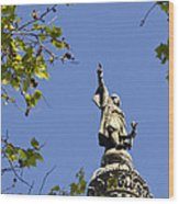 Columbus Monument - Barcelona Wood Print