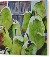 Columbus Pears Wood Print