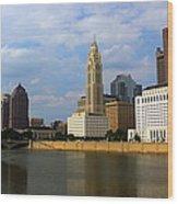 Columbus Skyline Wood Print