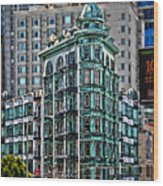 Columbus Tower In San Francisco Wood Print