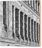 Columnar Facade Wood Print