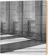 Columns And Shadows Wood Print