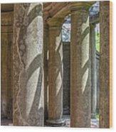 Columns At Cranes Wood Print
