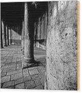 Columns At The Church Of Nativity Wood Print