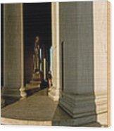 Columns Of A Memorial, Jefferson Wood Print