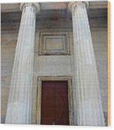 Columns Of Second Bank In Philadelphia Wood Print