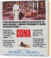 Coma, Left Genevieve Bujold On Poster Wood Print