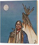 Comanche Moon Wood Print