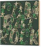 Combat Rock Wood Print