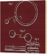 Combined Hoop And Tethered Ball Toy Patent 1967 Wood Print