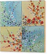 Combo Flowers Wood Print