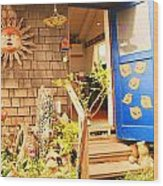 Come On In To A Mendocino Art Studio Wood Print