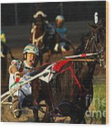 Horse Racing Come On Number 6 Wood Print