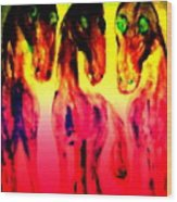 Come Out And Play, Are We Horses Or Are We Snakes  Wood Print