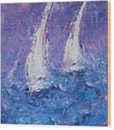 Come Sail Away Wood Print