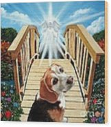 Come Walk With Me Over The Rainbow Bridge Wood Print