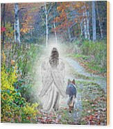 Come Walk With Me Wood Print by Sue Long