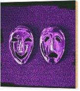 Comedy And Tragedy Masks 2 Wood Print