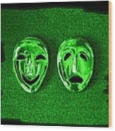 Comedy And Tragedy Masks 3 Wood Print