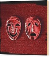 Comedy And Tragedy Masks 4 Wood Print