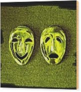 Comedy And Tragedy Masks 6 Wood Print