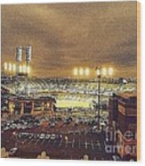 Comerica Night Game 2 Wood Print