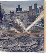 Comerica Park Asteroid Wood Print