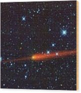 Comet 65p-gunn, Infrared Image Wood Print by Science Photo Library
