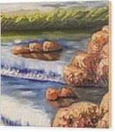 Comfort Waterfall Wood Print