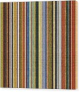 Comfortable Stripes V Wood Print by Michelle Calkins